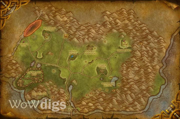WoWdigs - Thoradin\'s Wall Digsite - Eastern Kingdoms - Arathi ...